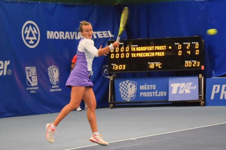 Krejčíková vyhrála v Launcestonu oba zápasy, v semifinále může pomstít Bouzkovou